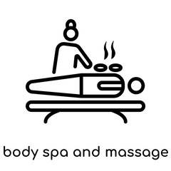 body spa and massage icon isolated on white background