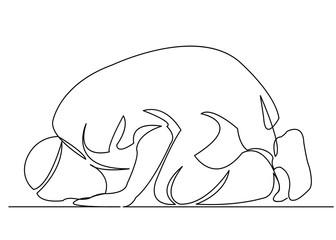 male Muslim praying