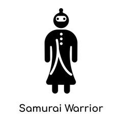 Samurai Warrior icon isolated on white background