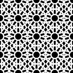 Seamless geometric pattern in a black - white colors