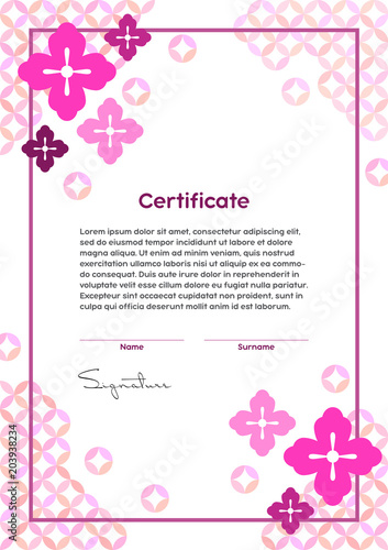 Vector certificate template japanese modern style beauty salon vector certificate template japanese modern style beauty salon yoga spa makeup yadclub Choice Image