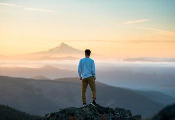 Solitude, Mountain, Sky, Cloud, Rock, View, Ontop, High, Inspiration, Hill, Mount, Fog