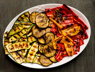 grilled colored vegetable dish
