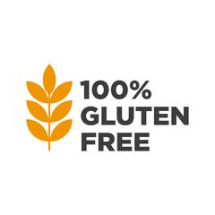 100%  Gluten free icon. Vector illustration.