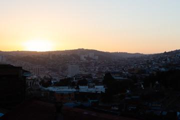 Valparaiso dawn east view