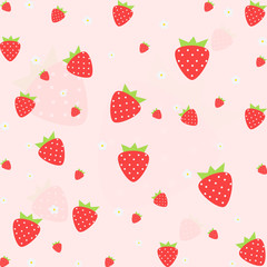 Seamless vector strawberry fruit pattern.vector, illustration.