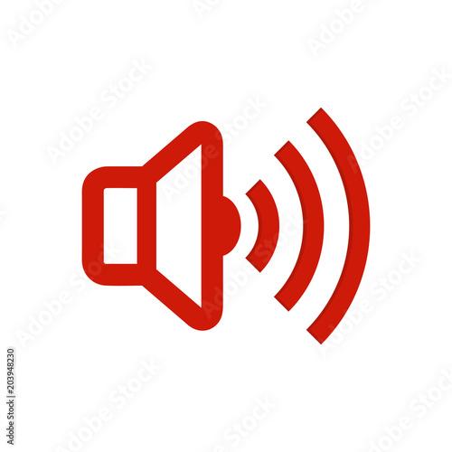 Speaker volume icon - audio voice sound symbol, media music button