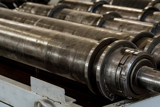 Drive shafts in factory close
