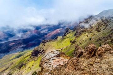 Haleakala Volcanic Crater and Cinder Cones