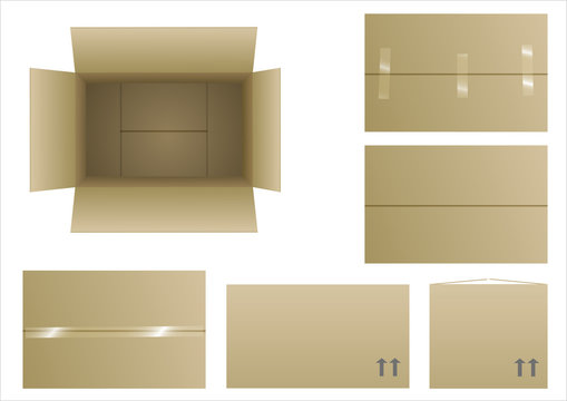 Closed and open boxes