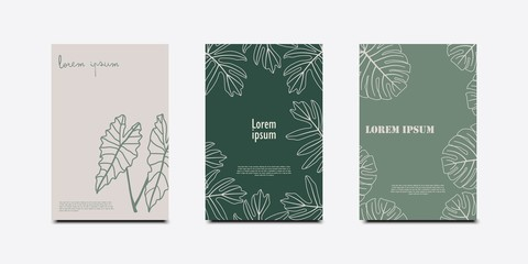 Minimal covers design. Tropical leaves set.