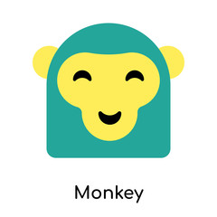 Monkey icon isolated on white background