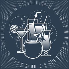 cocktail drinks party  silhouette