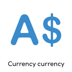 Currency currency icon isolated on white background