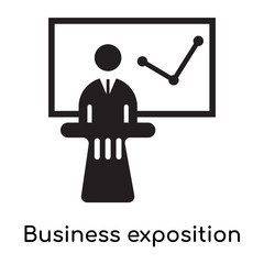Business exposition icon isolated on white background
