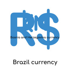Brazil currency icon isolated on white background