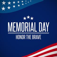 Happy Memorial Day greeting card. Vector illustration. Patriotic American Flag