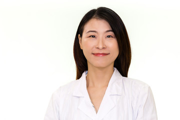 Asian female doctor looking at camera