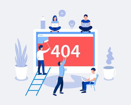 404 error page design concept.