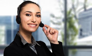 Customer representative portrait smiling