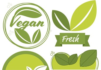 4 Green Organic Label Layouts