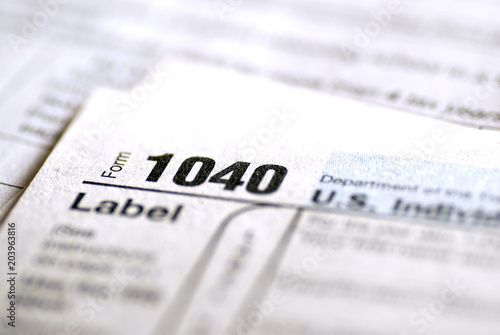 Tax Forms 1040 For Irs Stock Photo And Royalty Free Images On