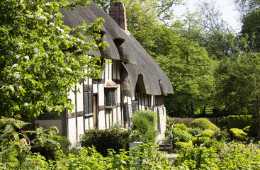 Anne Hathaway cottage. Shakespeare wife house Wall mural