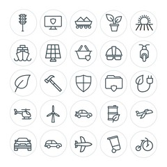 Modern Simple Set of transports, industry, nature, security Vector outline Icons. Contains such Icons as  travel,  data,  vehicle, hammer and more on white background. Fully Editable. Pixel Perfect