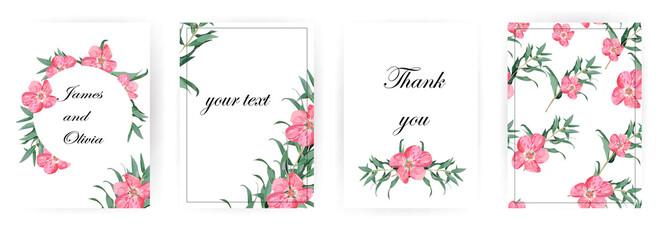 flowers. Wedding invitations.set floral background