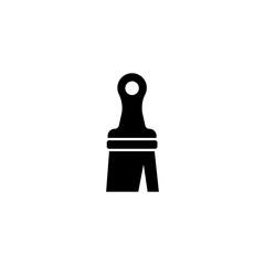 Paint Brush. Flat Vector Icon. Simple black symbol on white background