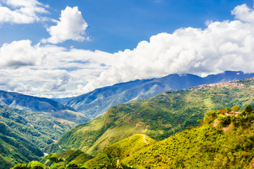 Mountain landscape in the Yungas by Coroico - Bolivia