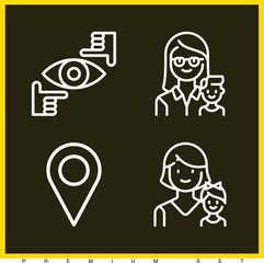 Set of 4 person outline icons