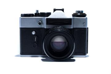 vintage camera on white background