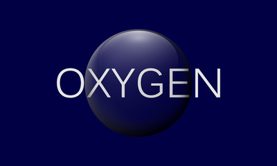 O2 oxygen concept logo vector icon. 3d illustration.