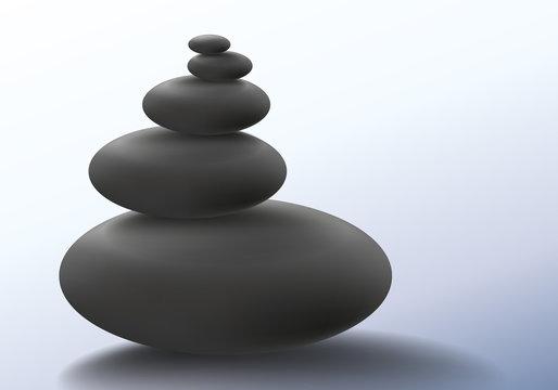zen - cailloux - bien-être - détente - pile - symbole - calme - pierre - beauté - massage - tranquillité