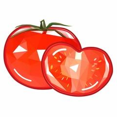 original and beautiful vector tomato icon in a cut