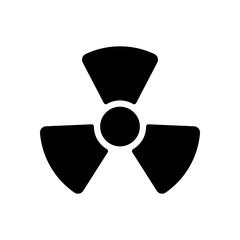Radiation simple symbol. Radioactivity icon