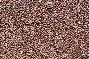 Coffee beans roasted texture background