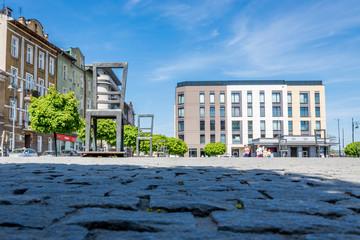 Le ghetto heroes square dans l'ancien quartier du ghetto Juif de Cracovie