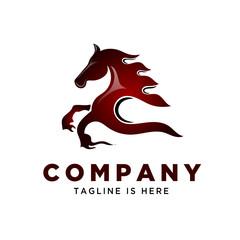 fire speed running horse logo