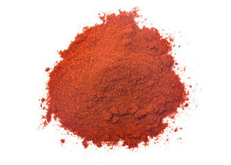 Fotobehang Kruiderij Powdered Paprika on a White Background