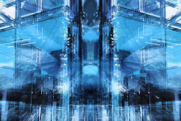 Desktop Hintergund blau futuristisch