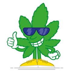 Cartoon marijuana