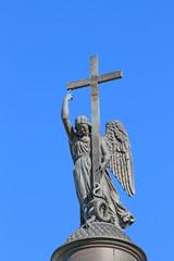 Russia, St. Petersburg, Angel on the Alexander Column