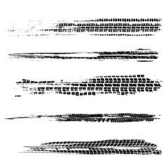 Tire tracks marks