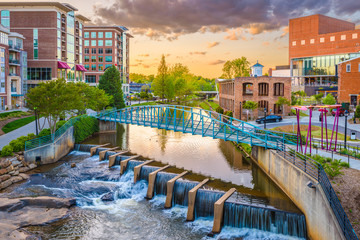 Greenville, South Carolina, USA Cityscape