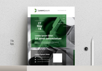 Dark Green and Gray Flyer Layout