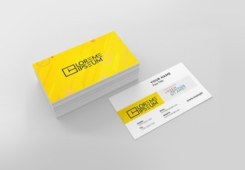 Yellow and White Business Card Layout