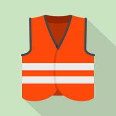 Road vest icon. Flat illustration of road vest vector icon for web design