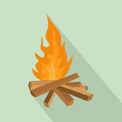 Small woods fire icon. Flat illustration of small woods fire vector icon for web design